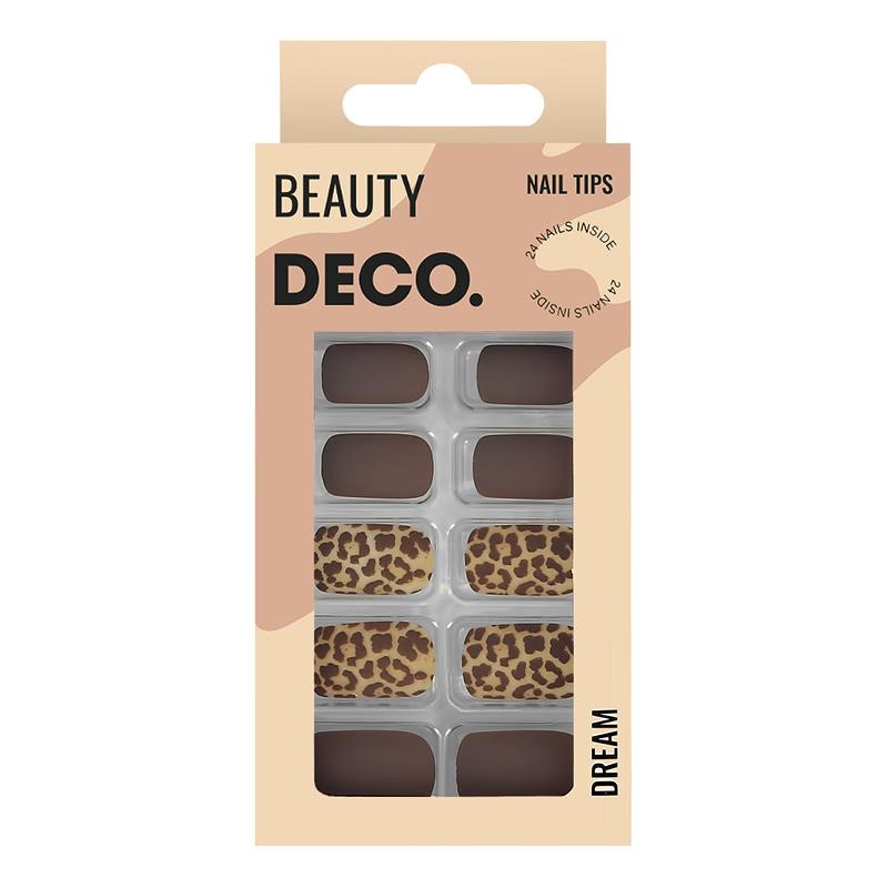 Набор накладных ногтей DECO. Dream Leo (24 шт + клеевые стикеры 24 шт)