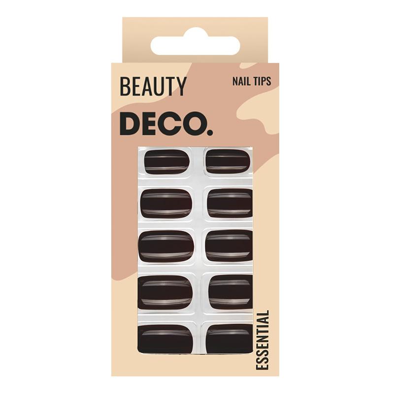Набор накладных ногтей DECO. Essential Dark Choco (24 шт+ клеевые стикеры 24 шт)