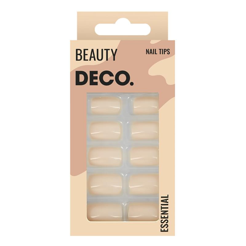 Набор накладных ногтей DECO. Essential Nude (24 шт+ клеaевые стикеры 24 шт)