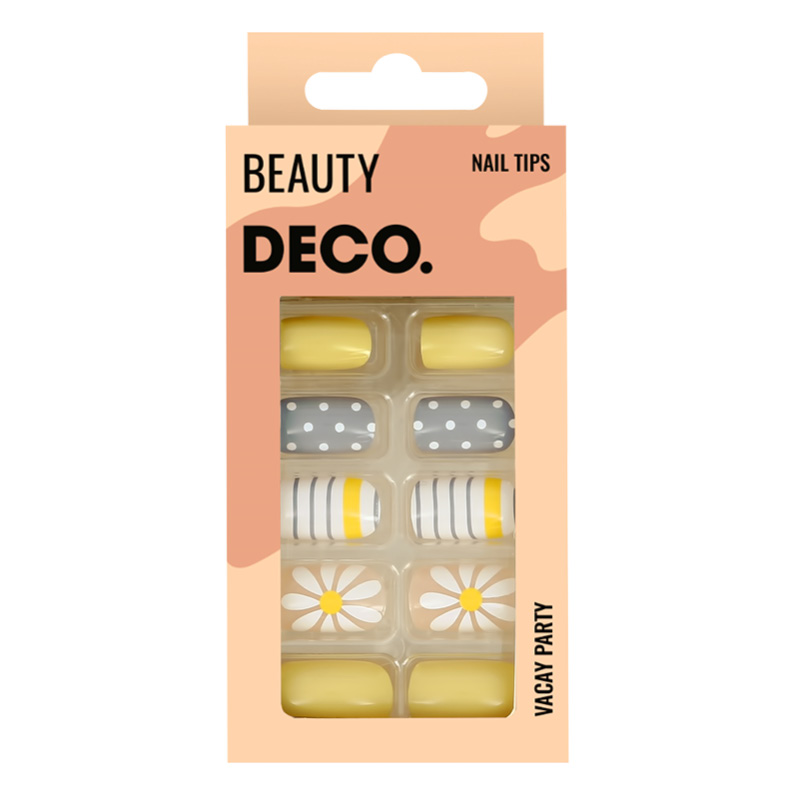 Набор накладных ногтей DECO. Vacay Party Daisy Story