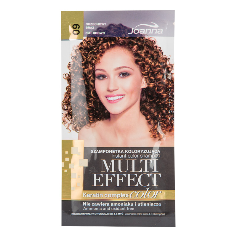 Оттеночный шампунь для волос Joanna Multi Effect Color тон 09 (Коричневый орех)