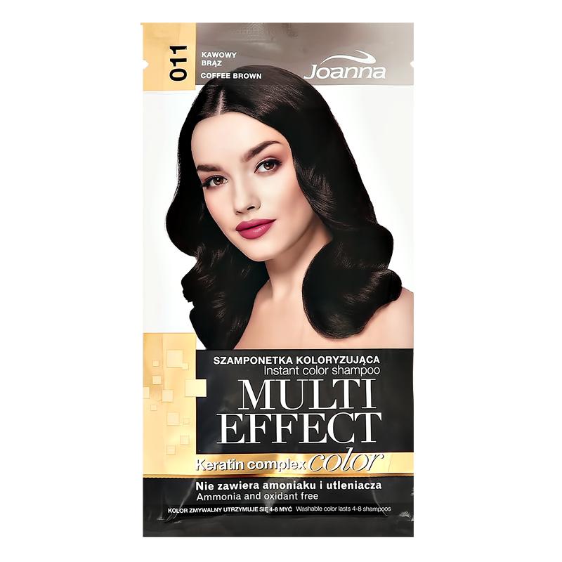 Оттеночный шампунь для волос Joanna Multi Effect Color тон 11 (Коричневый кофе)