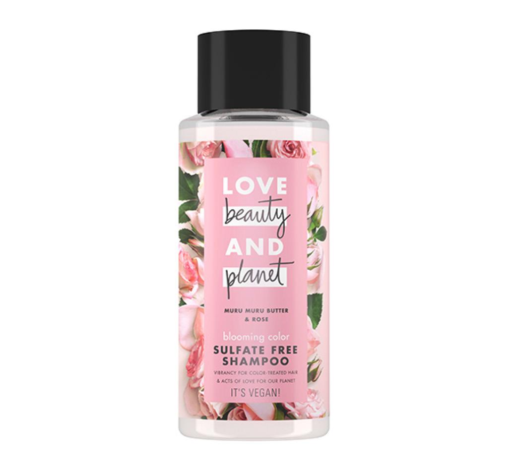Шампунь для волос Love Beauty And Planet Muru Muru Butter & Rose Цветущий цвет (бессульфатный с маслом мурумуру и розой)