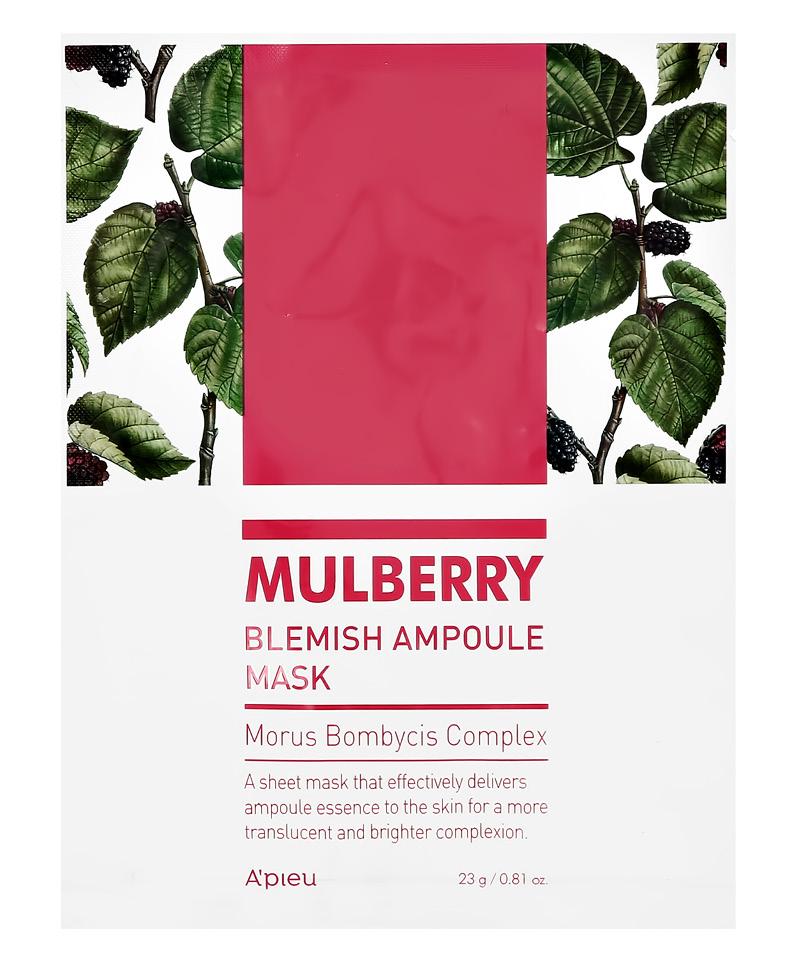 Маска для лица A`Pieu Mulberry с экстрактом шелковицы (выравнивающая тон кожи)