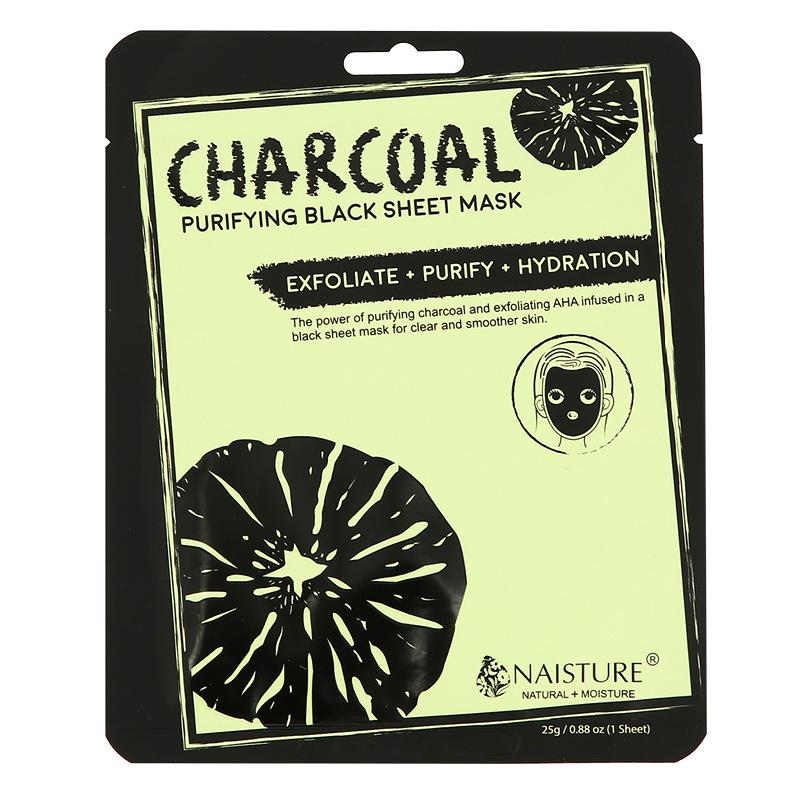 Маска для лица очищающая с древесным углем и АНА-кислотами Charcoal Naisture