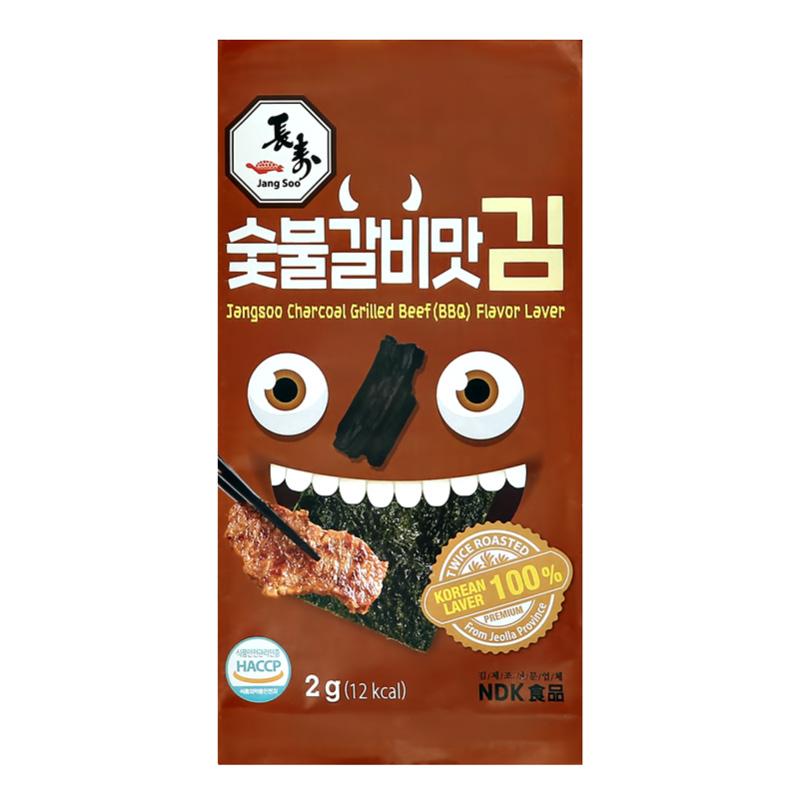 Морские водоросли Jangsoo со вкусом говядины на гриле