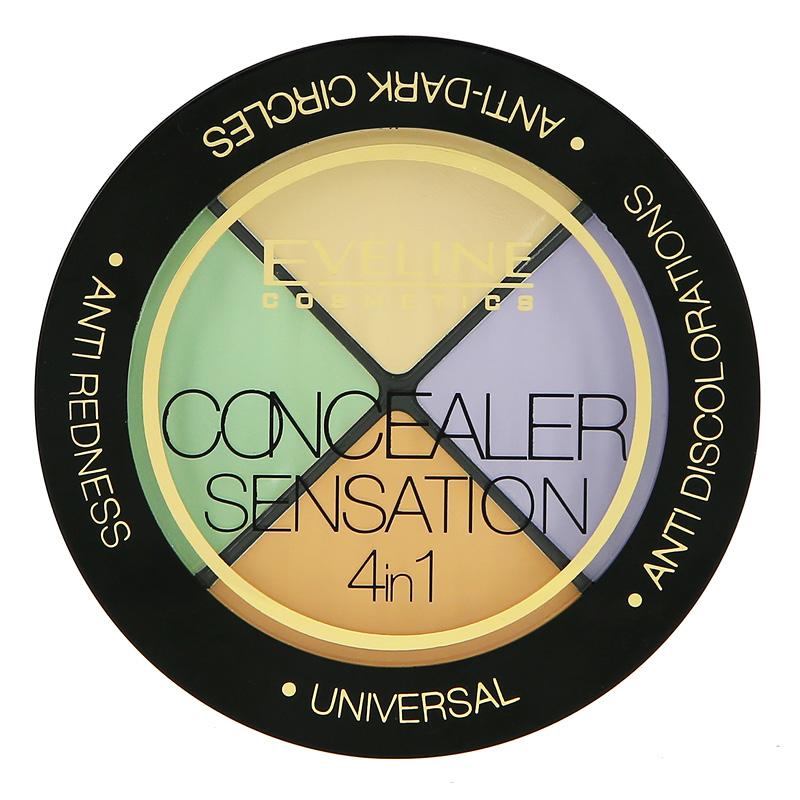 Набор консилеров для лица Eveline Concealer Sensation 4 в 1
