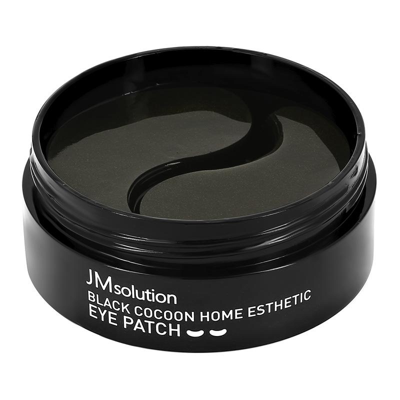 Патчи для глаз Jmsolution Black Cocoon гидрогелевые с протеинами шелка и древесным углем