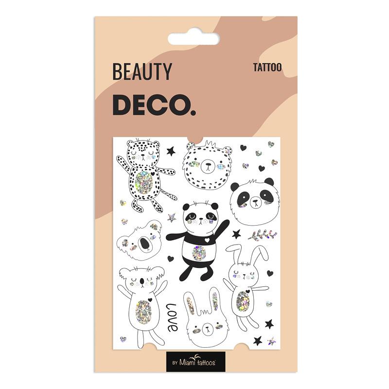 Татуировка для тела DECO. Cartoon By Miami Tattoos Переводная (Panda Party)