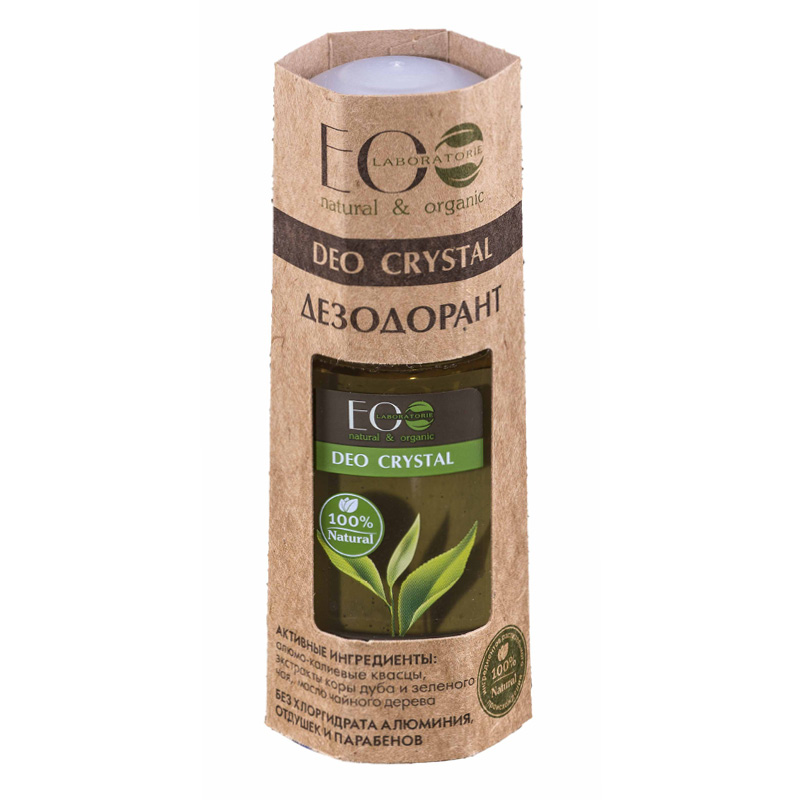 Део-ролл жен. EO Laboratorie Deo Crystal кора дуба и зеленый чай