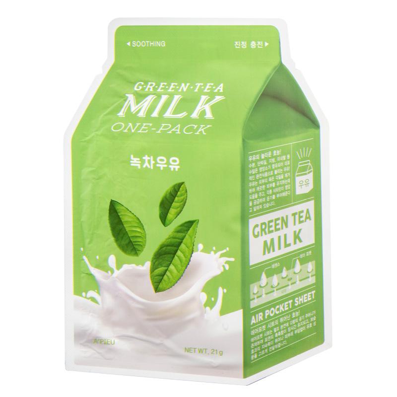 Маска для лица A`Pieu зеленый чай (с молочными протеинами)