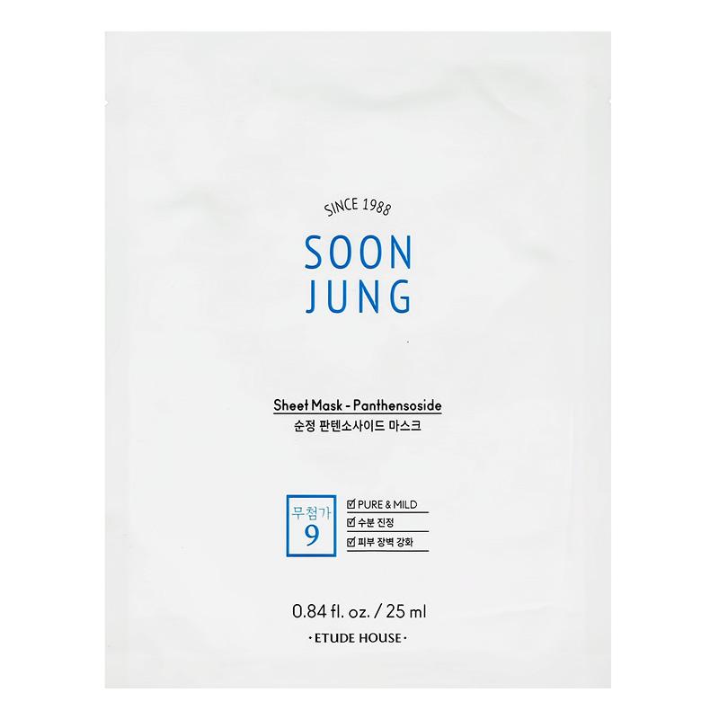 Маска для лица Etude House Soon Jung с мадекассосидом и пантенолом (успокаивающая)