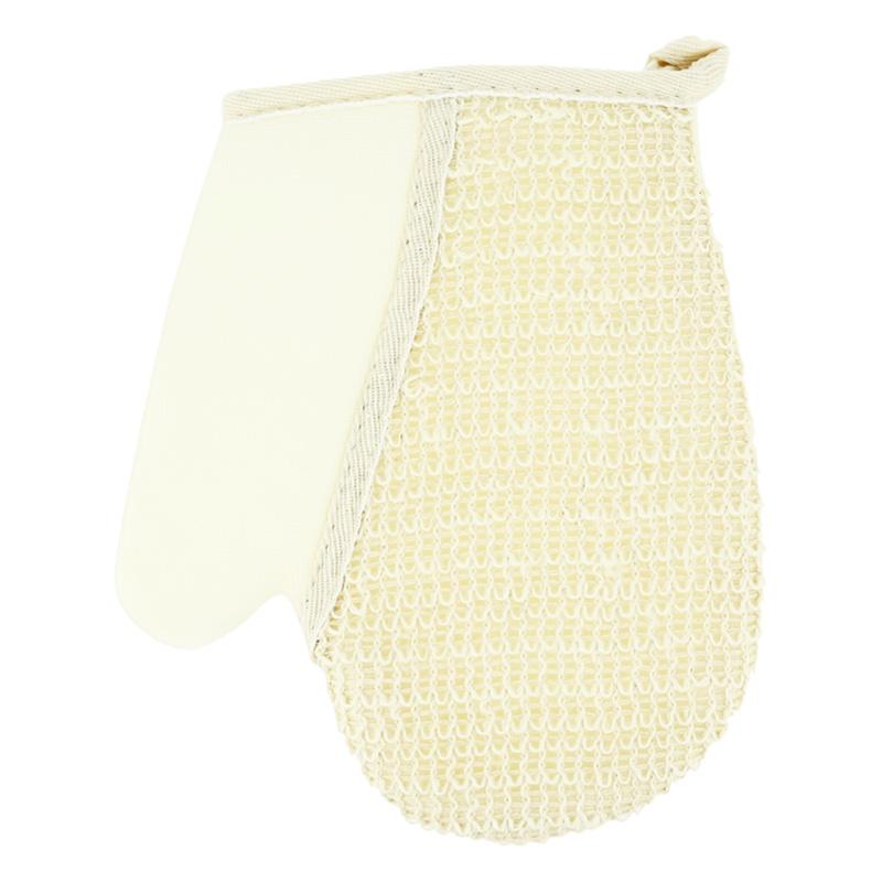 Мочалка-рукавица для тела DECO. натуральная (лен)