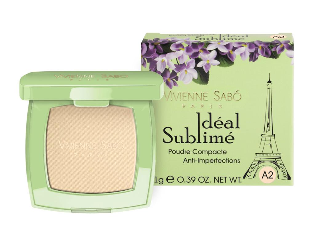 Пудра компактная для лица Vivienne Sabo Ideal Sublime против изъянов кожи тон А2