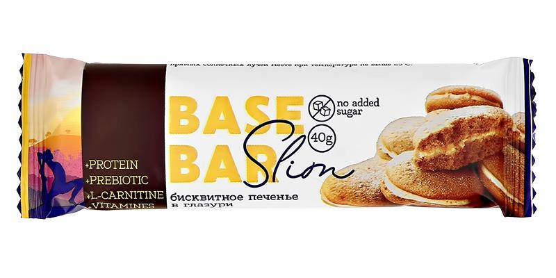 Батончик глазированный Slim «Бисквит», Base Bar, 40 г
