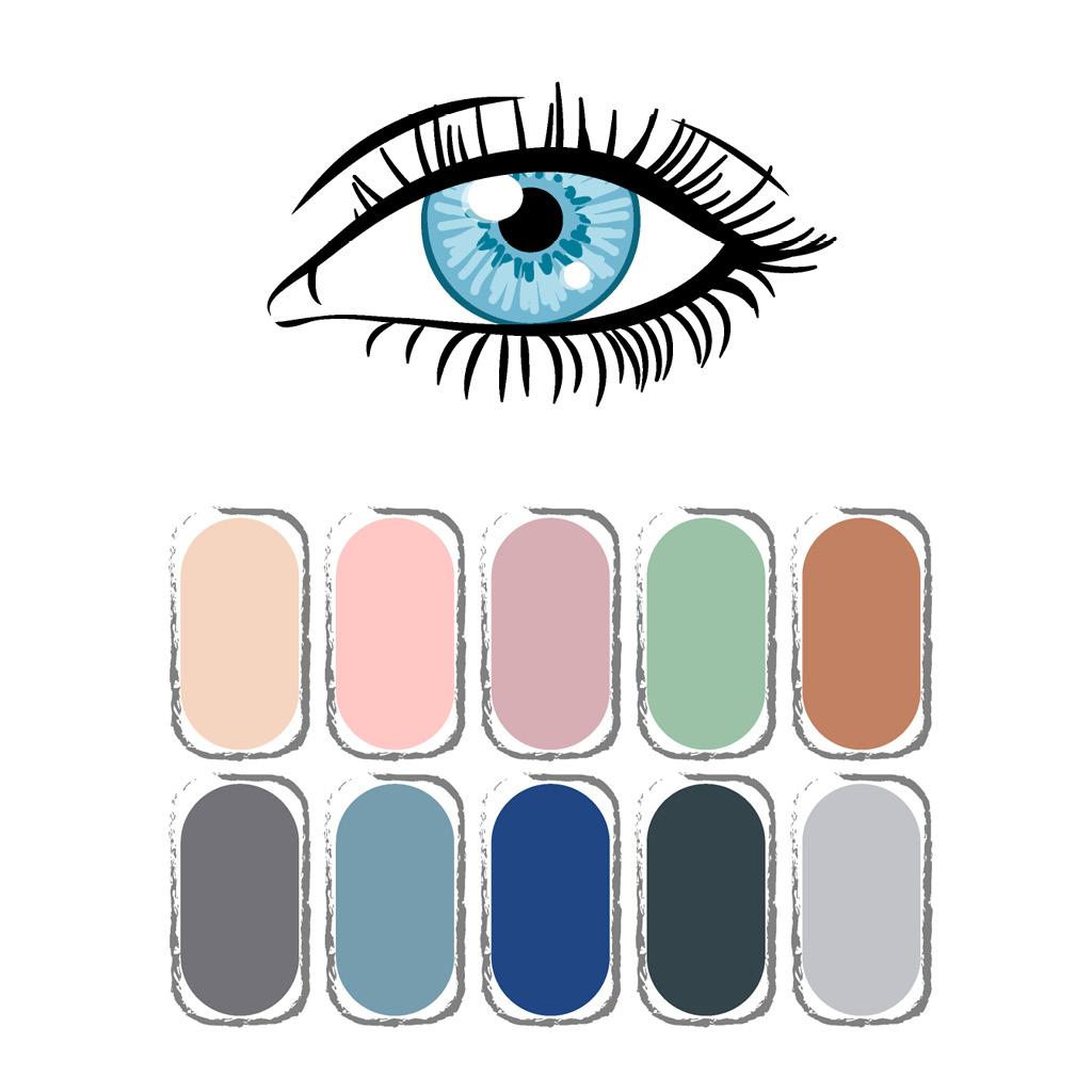Как выбрать тени под цвет голубых и серых глаз