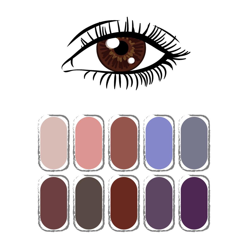 Как выбрать тени под цвет карих глаз