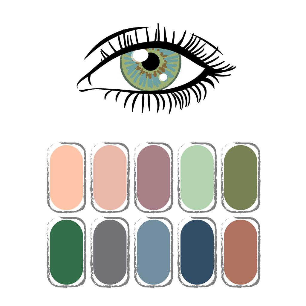Как выбрать тени под цвет зеленых глаз