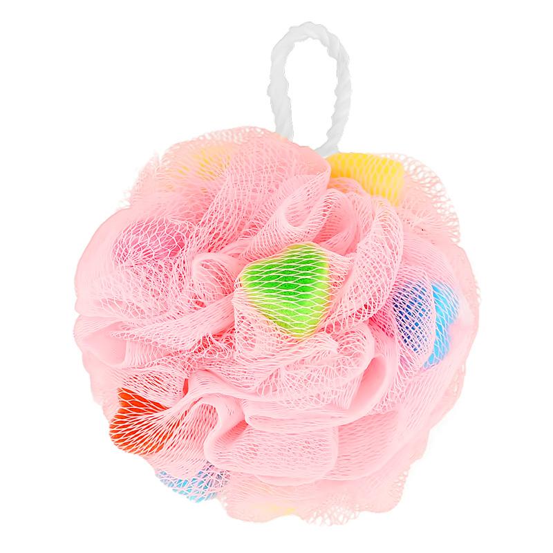 Мочалка-шар для тела DECO. синтетическая (Hearts)