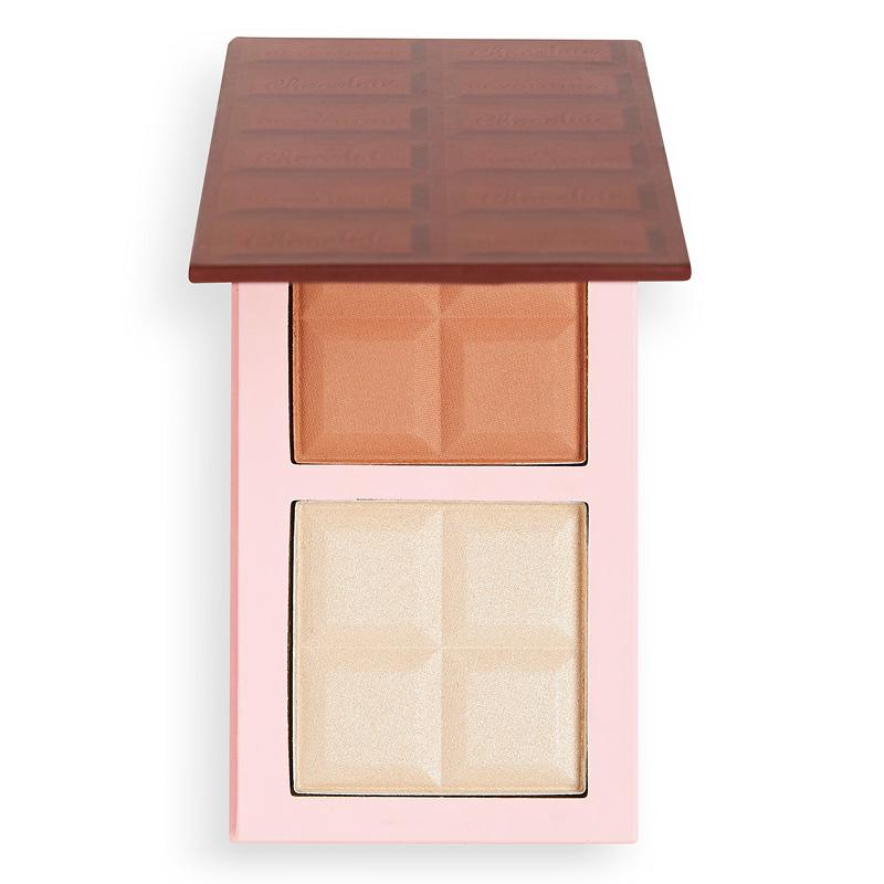 Палетка для макияжа лица I Heart Revolution Chocolate Contour Bar (бронзер и хайлайтер) тон Fair