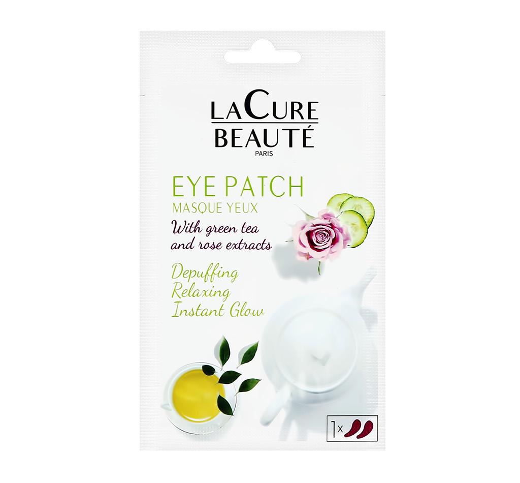 Патчи для глаз La Cure Beaute гидрогелевые с экстрактом розы и зеленого чая
