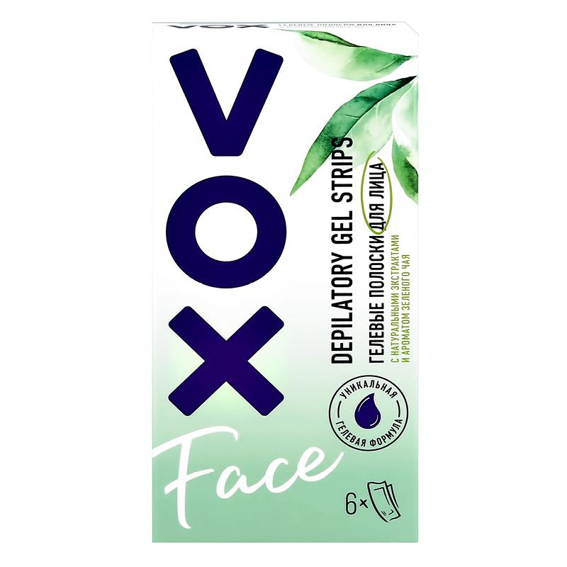 Полоски гелевые для лица (6 ШТ + 2 салфетки) Vox