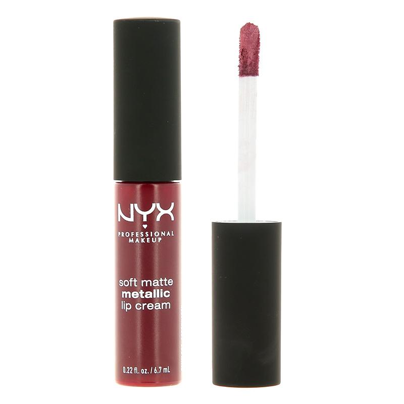 Помада для губ NYX Professional Makeup Soft Matte Metallic Lip Cream тон 02 Copenhagen металлик жидкая