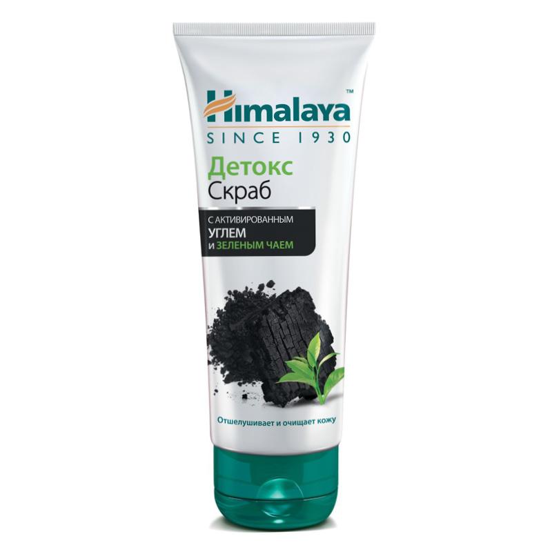 Скраб для лица Himalaya Herbals детокс с активированным углем и зеленым чаем