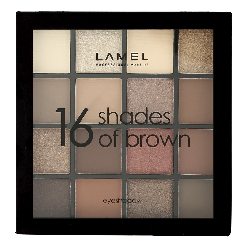 Тени для век Shades of Brown тон 16–1, Lamel Professional