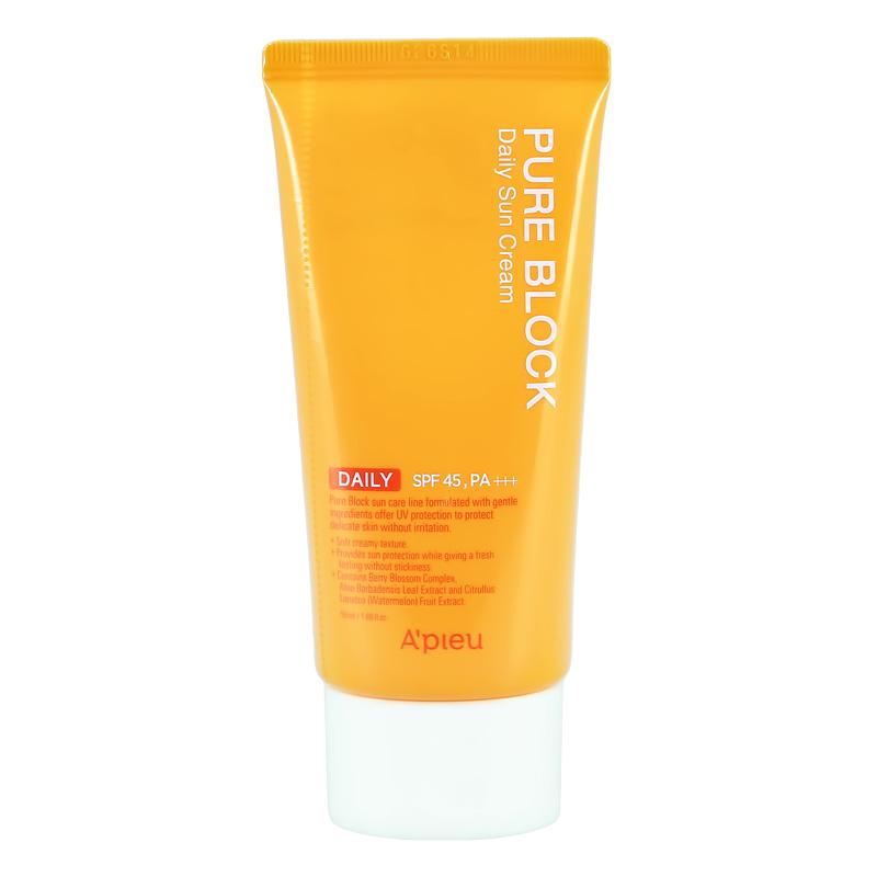 Крем для лица солнцезащитный Pure Block SPF 45, A'Pieu