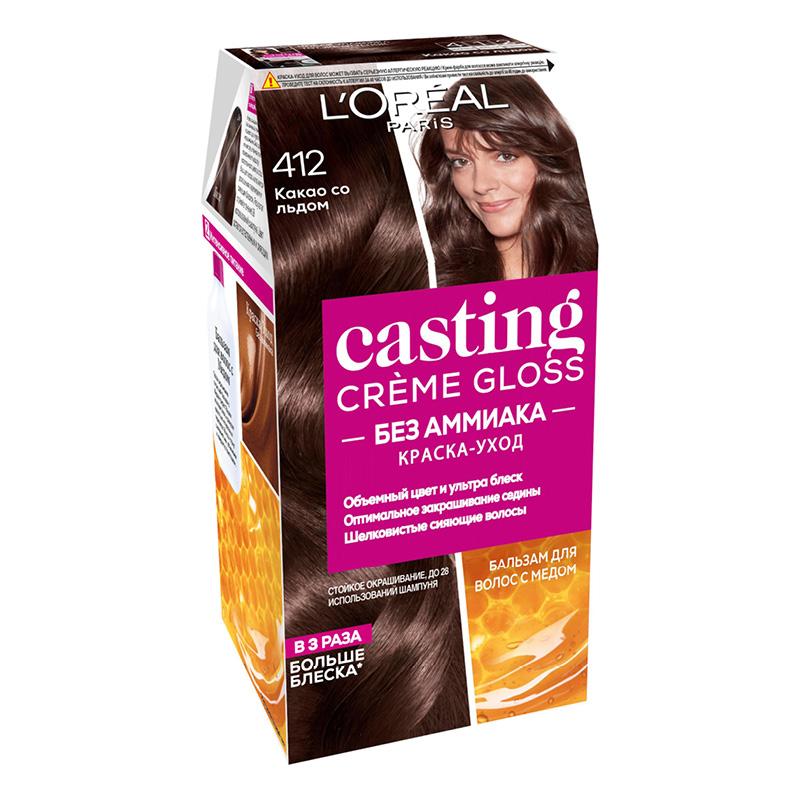 Крем-краска для волос Casting Creme Gloss, тон 412 (какао со льдом), L'Oréal