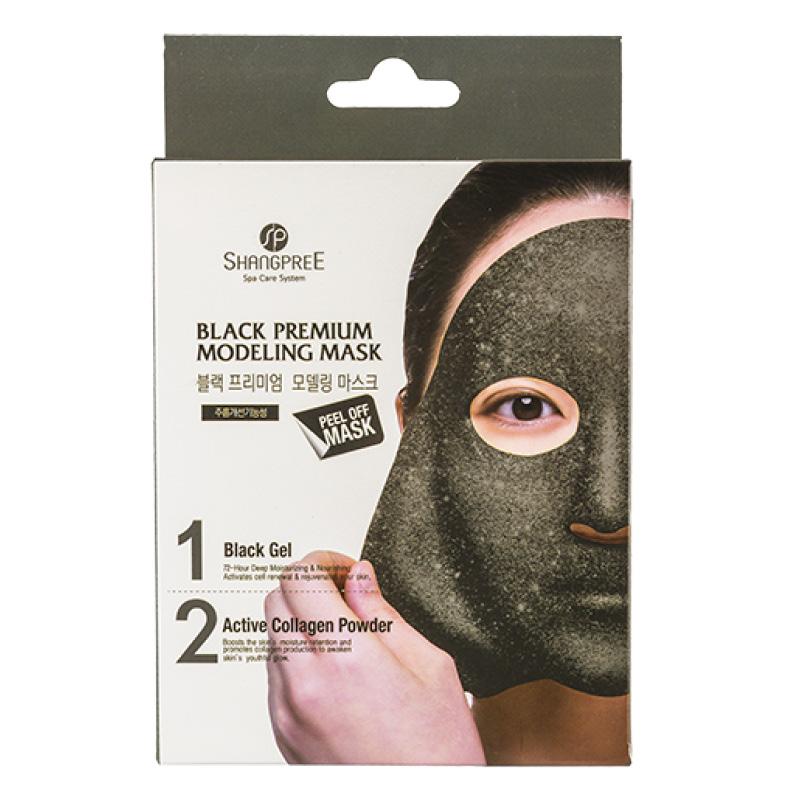 Маска для лица Shangpree Premium Черный гель с коллагеном