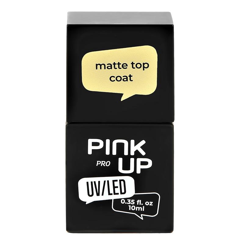 Матовое верхнее покрытие для ногтей UV/LED Pink Up PRO Matte Top Coat