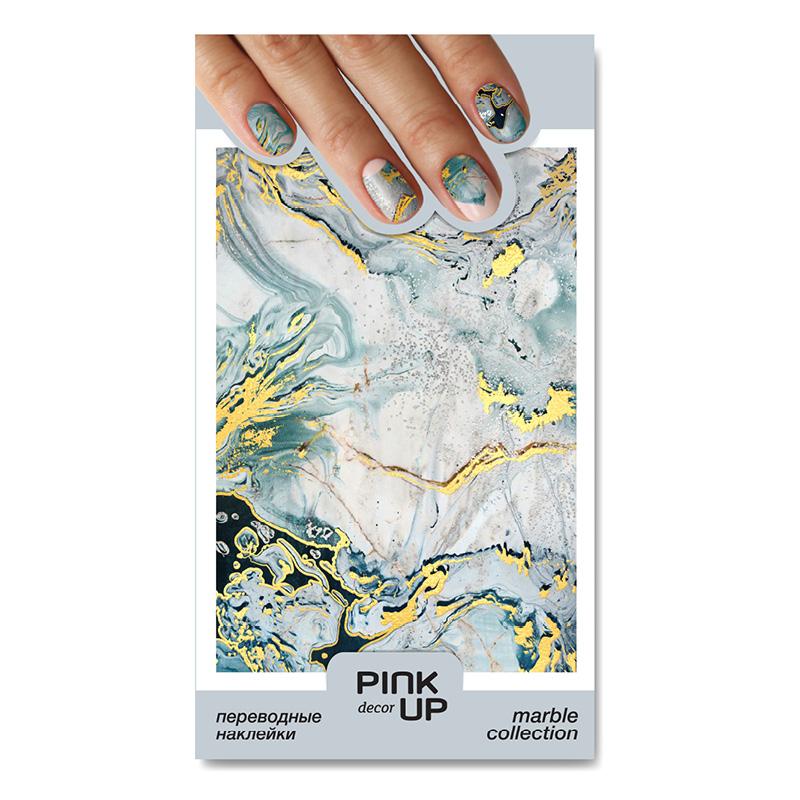 Наклейки для ногтей Pink Up Decor Marble переводные тон 826