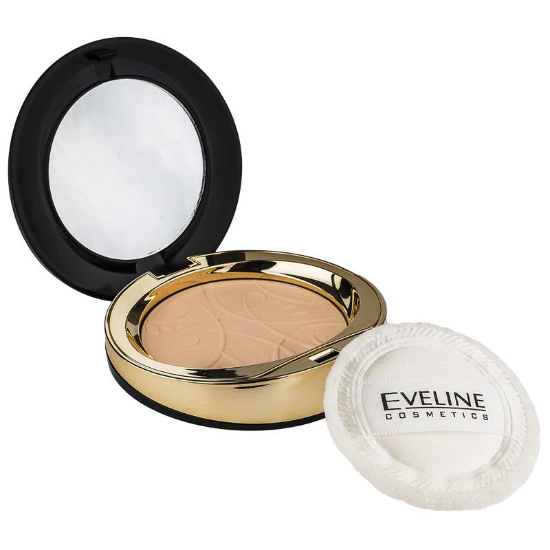 Пудра компактная для лица Eveline Celebrities Beauty тон 21 минеральная матирующая с разглаживающим эффектом