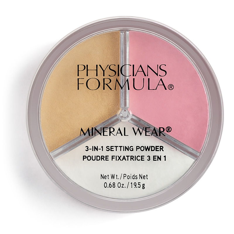Пудра рассыпчатая для лиц Physicians Formula Mineral Wear 3-In-1 Setting Powder 3 в 1