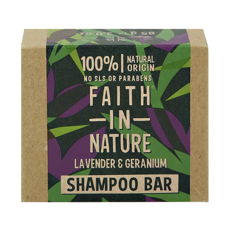 Шампунь для волос Faith In Nature с экстрактами лаванды и герани (твердый)