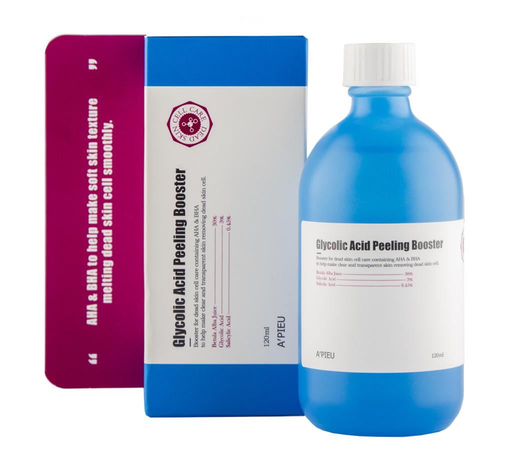 Бустер для лица c AHA- и BHA-кислотами и гликолевой кислотой, A`Pieu