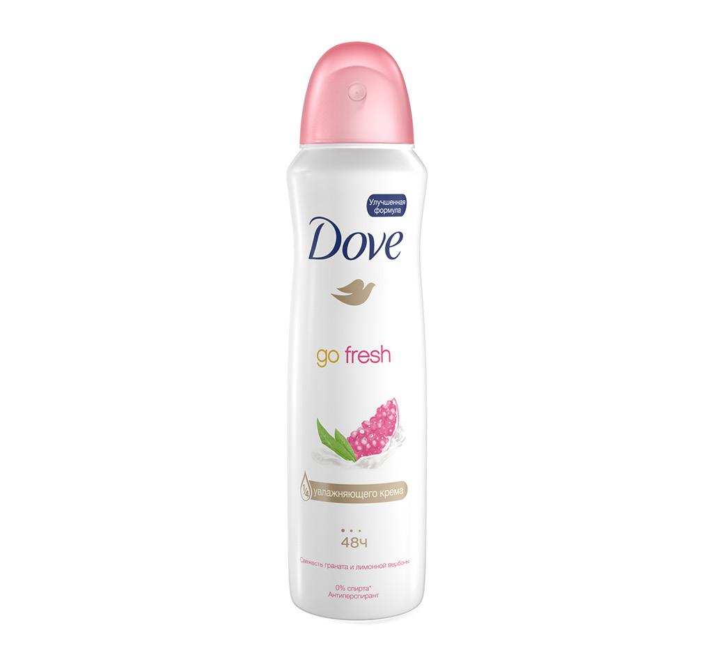 Део-спрей жен. Dove Go Fresh Свежесть граната и лимонной вербены (антиперспирант)