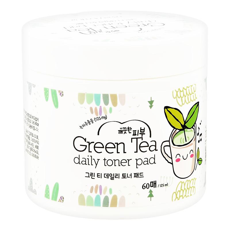 Диски для лица Esfolio отшелушивающие с экстрактом зеленого чая и AHA-кислотами