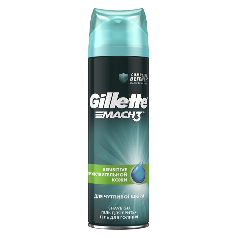 Гель для бритья Gillette Mach3 Complete Defense для чувствительной кожи