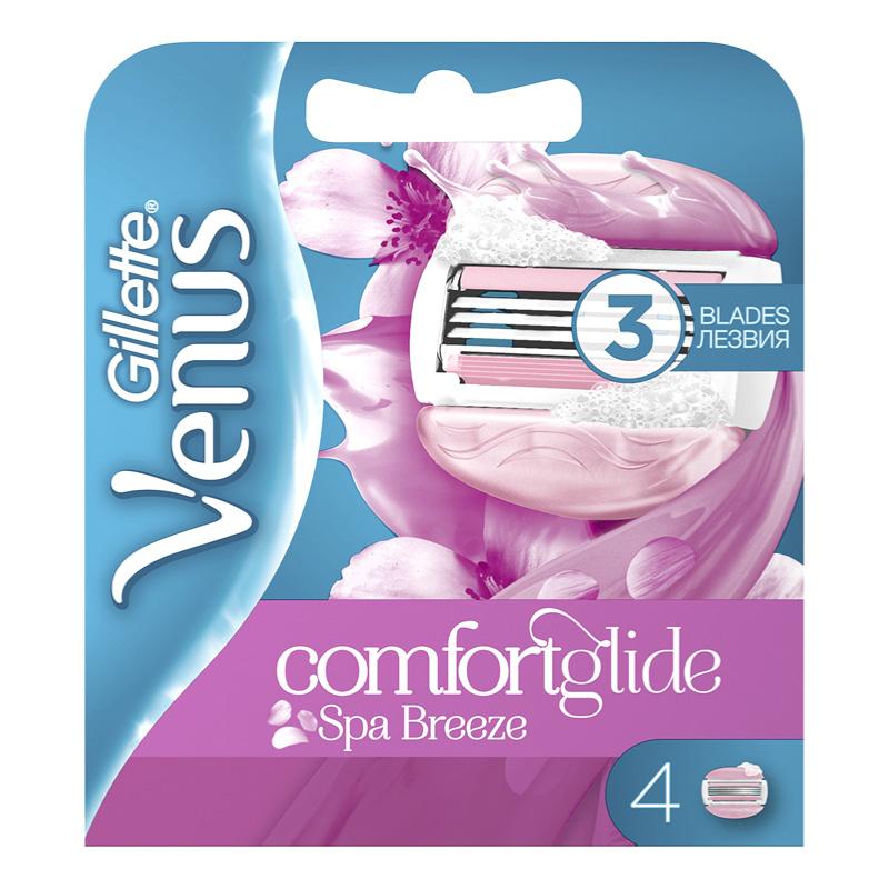 Кассеты для станка Gillette Venus Spa Breeze cо встроенными подушечками с гелем 4 шт