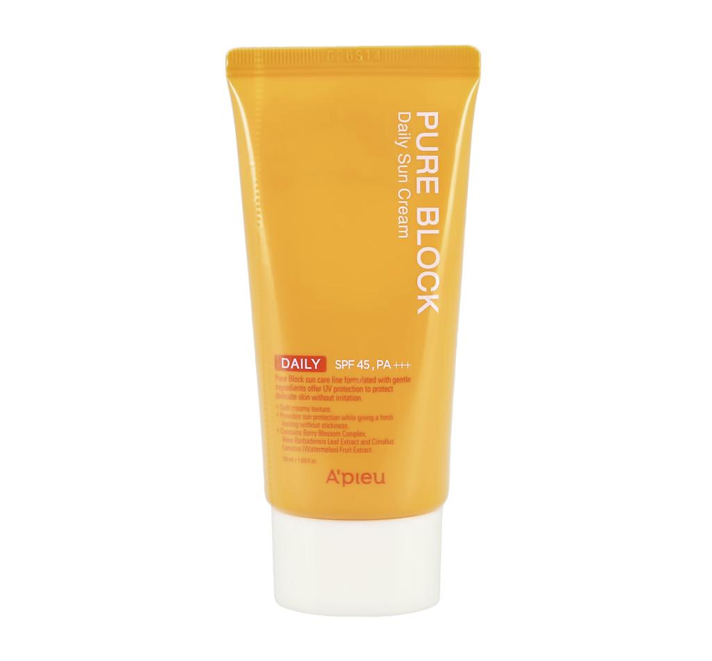 Крем для лица солнцезащитный SPF 45 Pure Block, A`Pieu