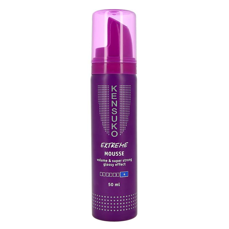 Мусс для волос с эффектом блеска сверхсильной фиксации Extreme, Kensuko