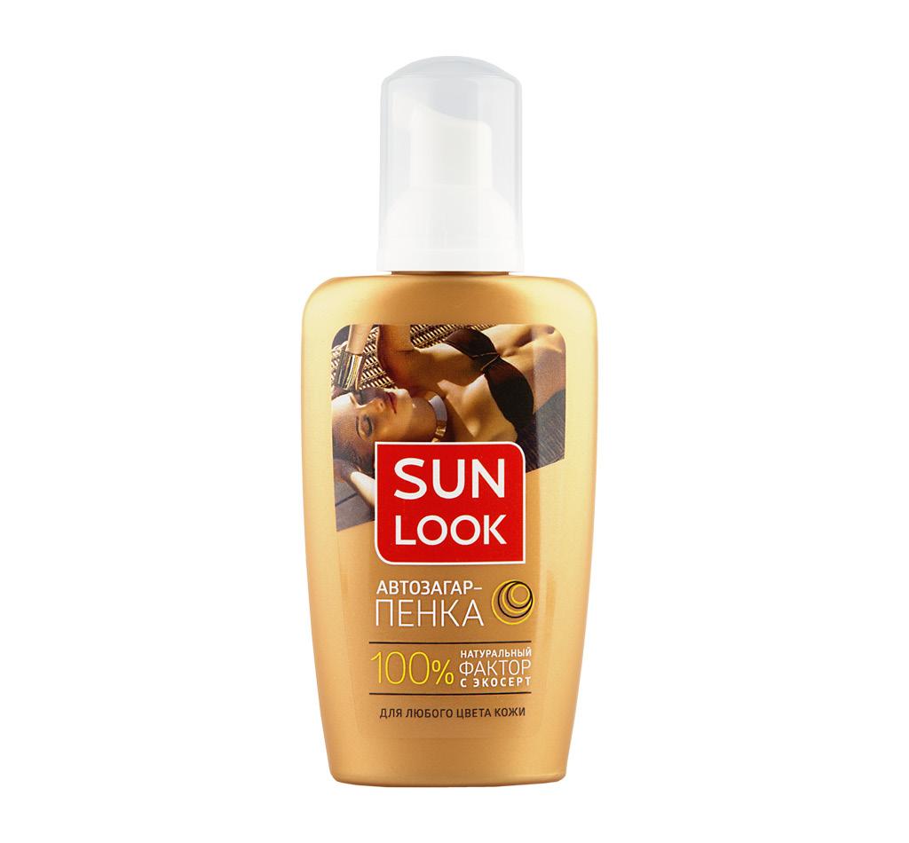 Пенка-автозагар для лица и тела Sun Look для любого цвета кожи