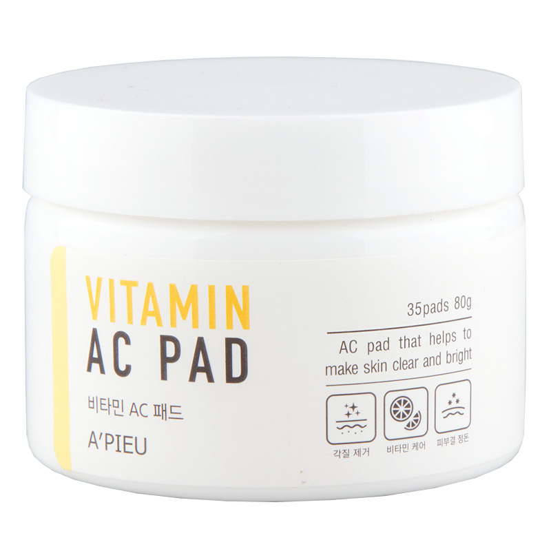Пилинг-диски для лица A`Pieu с АНА и ВНА-кислотами и 6 витаминами