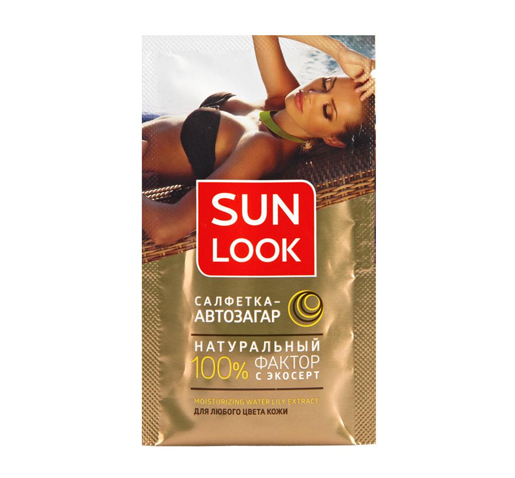Салфетка-автозагар для лица и тела Sun Look для любого цвета кожи
