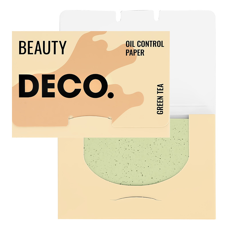 Салфетки для лица DECO. матирующие с экстрактом зеленого чая 100 шт