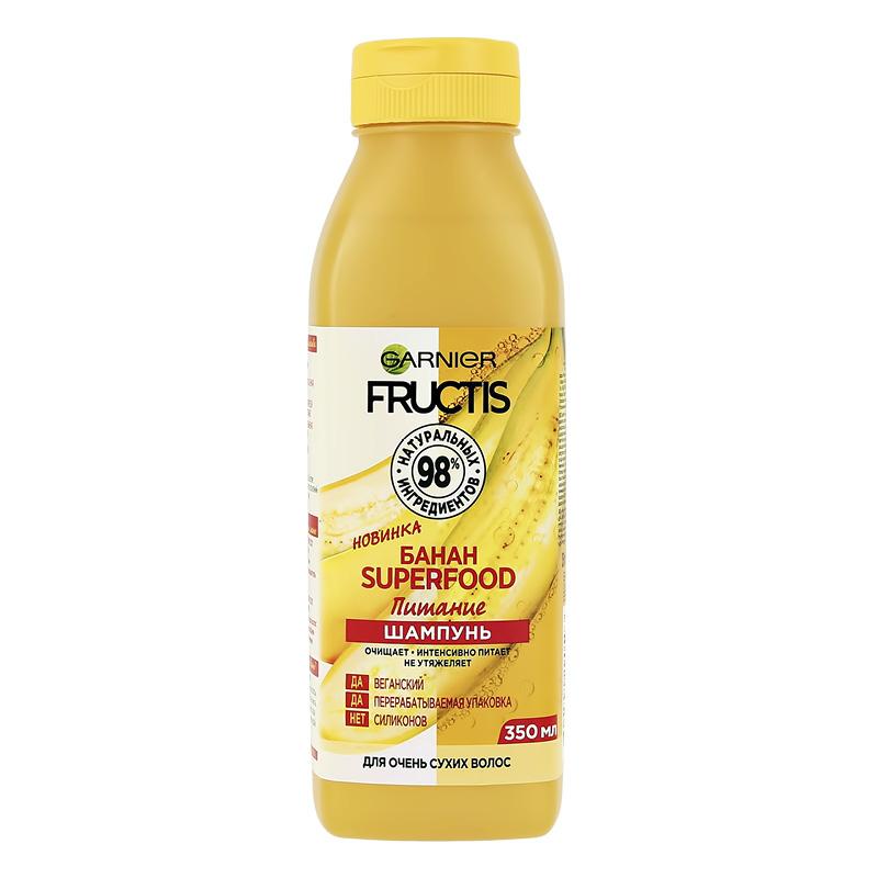 Шампунь для волос Garnier Fructis Superfood Банан (питание)