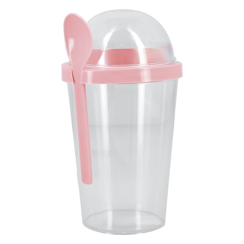 Шейк-стакан Fun с ложкой Pink